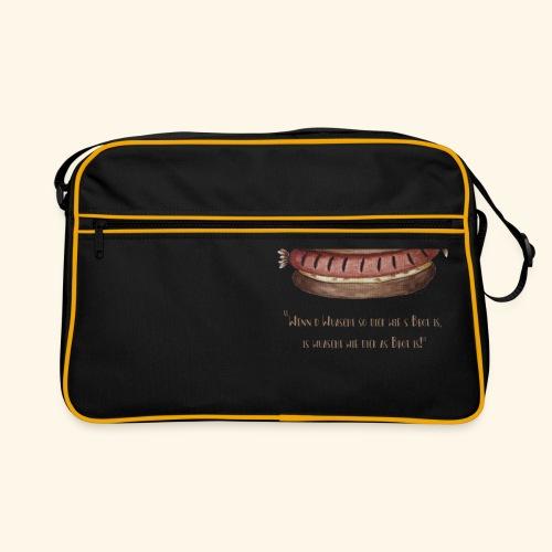 Wuaschtweisheit - Retro Tasche