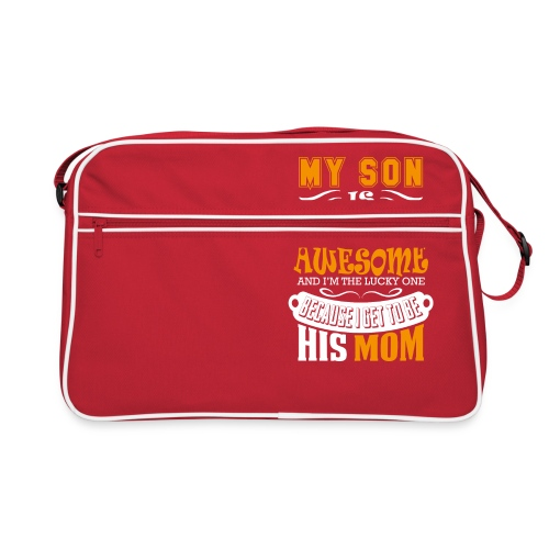 My Son Is Super Awesome His Mom - Retro Bag