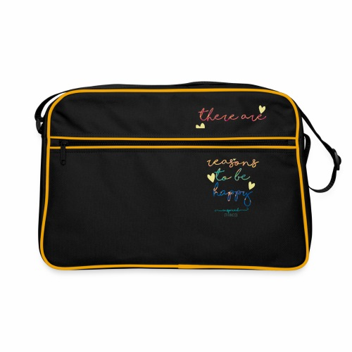 There are so many beautiful reasons to be happy - Retro Bag