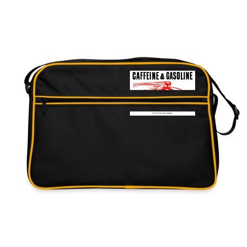 Caffeine & Gasoline black text - Retro Bag