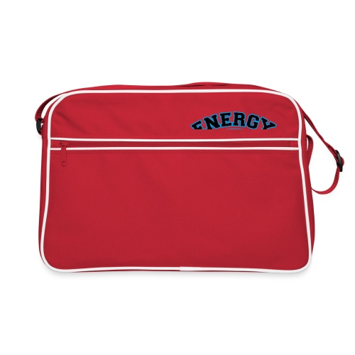 street wear logo nero energy basketball - Borsa retrò