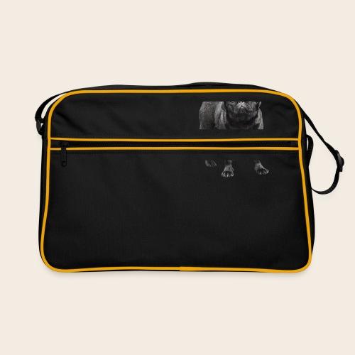 schwarzer Mops - Retro Tasche