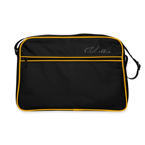 Knitter, dark gray - Retro Bag