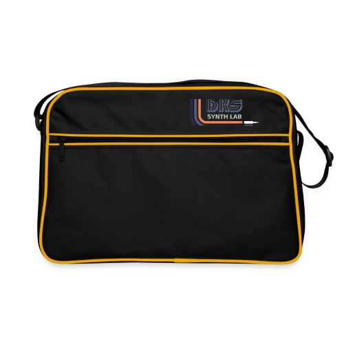 DKS SYNTH LAB Curved Blue-Orange - Borsa retrò