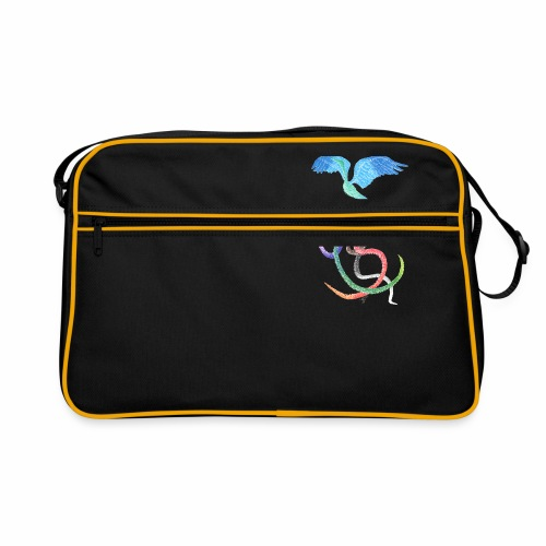 Graceful - Rainbow Bird in Ink - Retro Bag