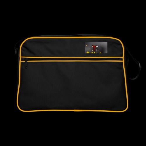 Waschbeer Design 2# Mit Flammen - Retro Tasche
