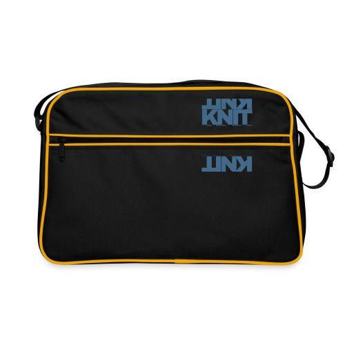 Garter Stitch, dark - Retro Bag
