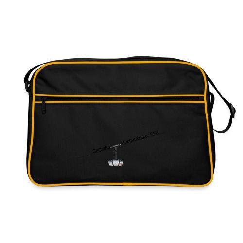 Jacke logo schwarz - Retro Tasche