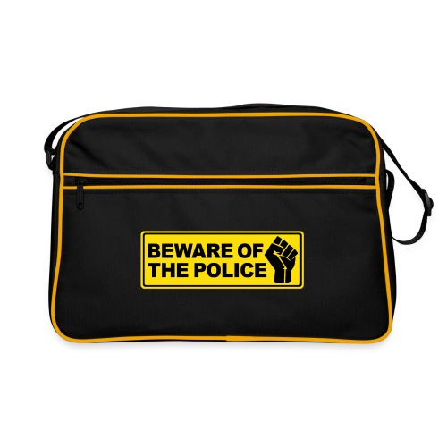 Beware of the Police Vorsicht Polizei - Retro Tasche