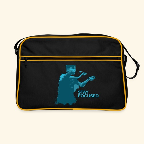 Stay Focused and enjoy the game ping pong - Retro Tasche