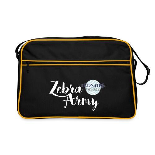 Zebra Army (white) - Retro Bag