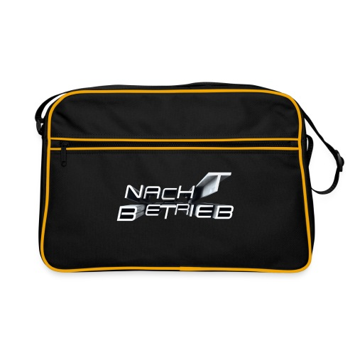 Nacht Betrieb Logo - SW - Retro Tasche