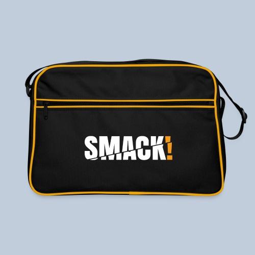 SMACK gross weiss ohne Hintergrund - Retro Tasche