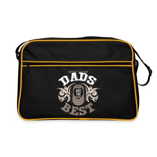Bearded Dads are the best Papa Bartträger Spruch - Retro Tasche
