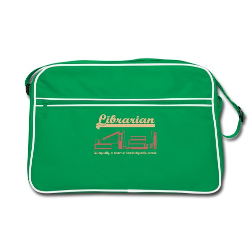 0333 Cool saying funny Quote Librarian - Retro Bag