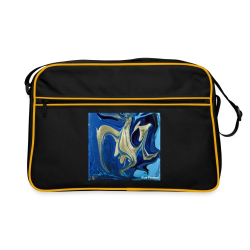 TIAN GREEN Welt Mosaik - AT042 Blue Passion - Retro Tasche