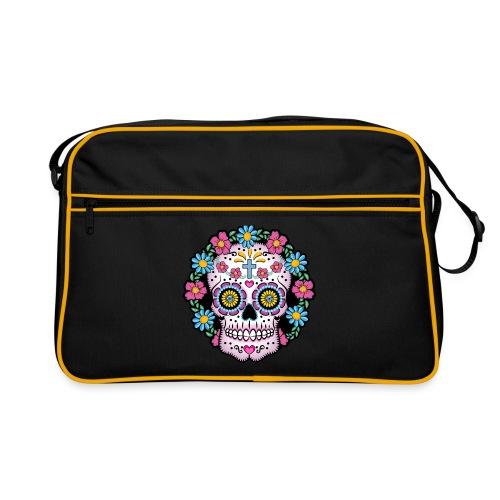 Dia de los Muertos Skull- - Retro Bag