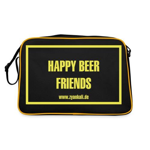 Happy beer friends - Retro Tasche