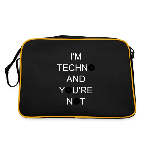 techno - Retro Tasche