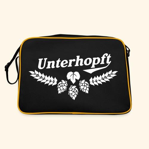 Unterhopft T Shirt - das Original für Biertrinker - Retro Tasche