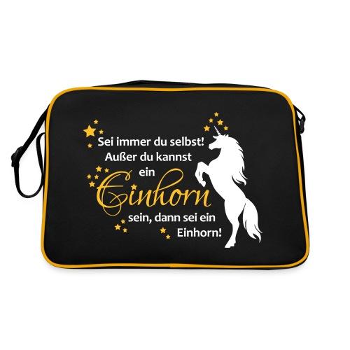 Einhorn sein mit Sterne - Retro Tasche
