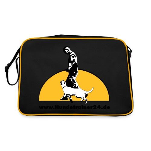 logo gelb schwarz - Retro Tasche