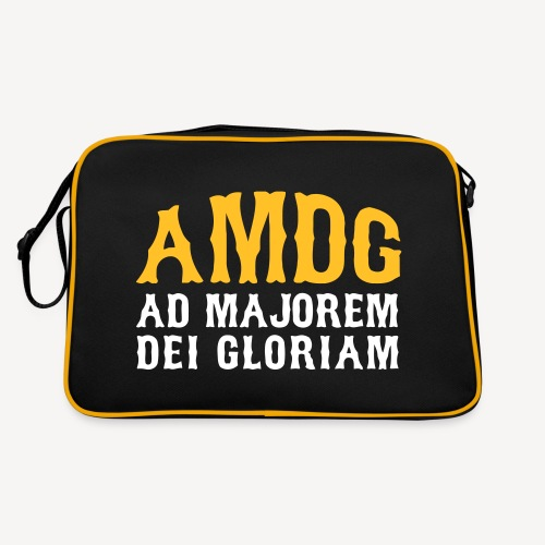 AMDG AD MAJOREM DEI GLORIAM - Retro Bag