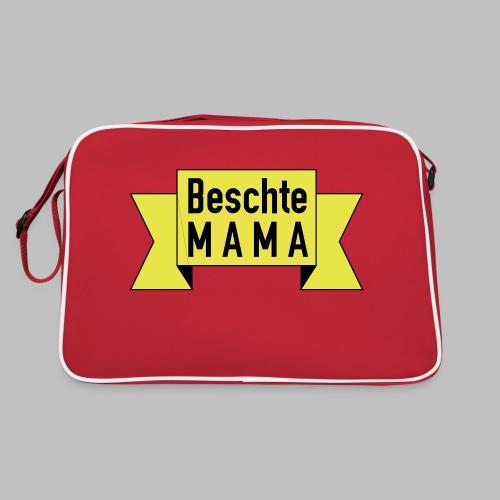 Beschte Mama - Auf Spruchband - Retro Tasche