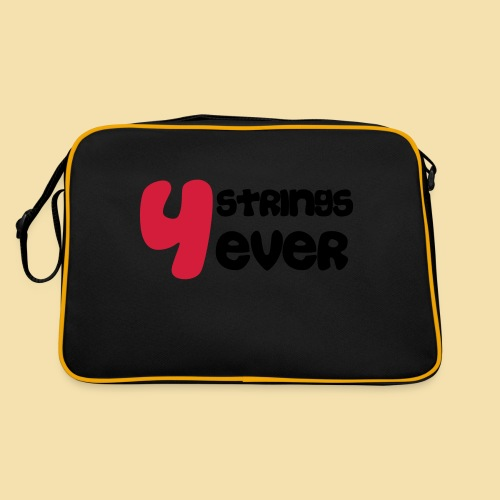 4 Strings 4 ever - Retro Tasche