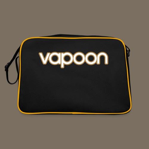 Vapoon Logo simpel 2 Farb - Retro Tasche
