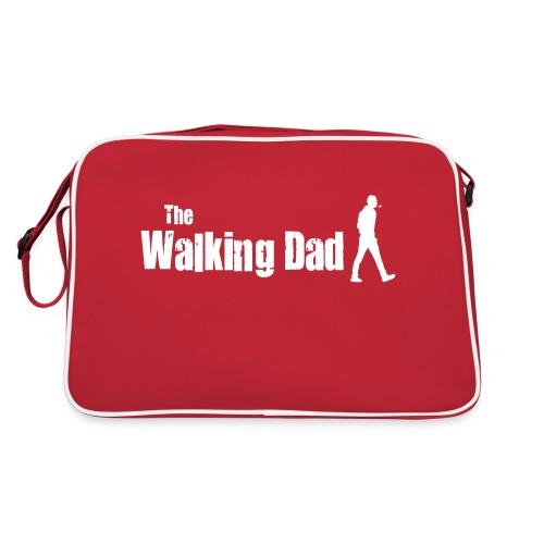 the walking dad white text on black - Retro Bag