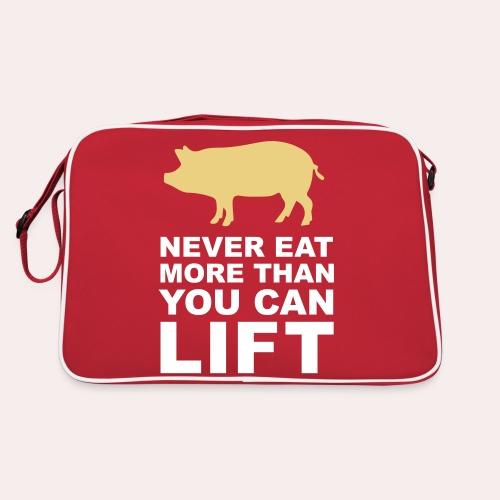 Nunca comas más de lo que puedas levantar - Bandolera retro
