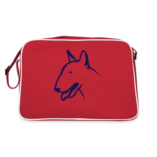 Bullterrier BULLY HEAD 1c_4light - Retro Tasche