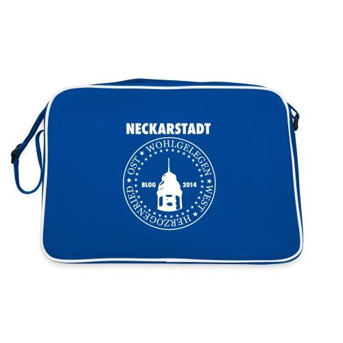 Neckarstadt – Blog seit 2014 (Logo hell) - Retro Tasche