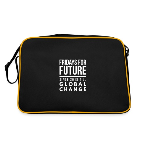 Fridays for Future till GlobalChange RescueTheBlue - Retro Tasche