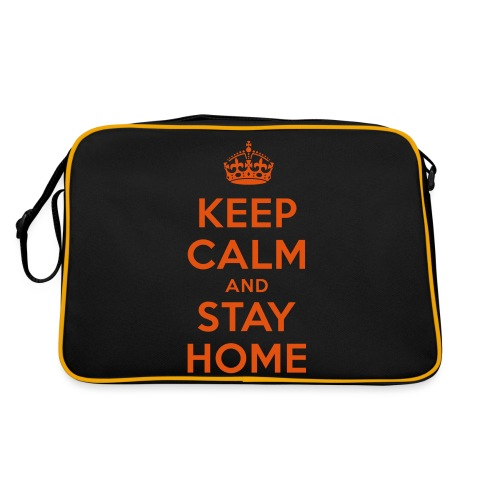KEEP CALM and STAY HOME - Retro Tasche