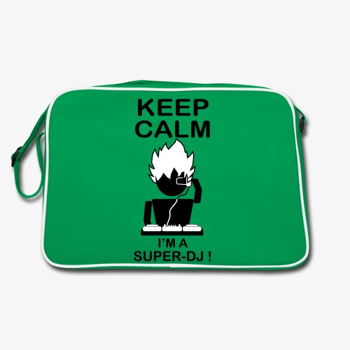 KEEP CALM SUPER DJ B&W - Sac Retro