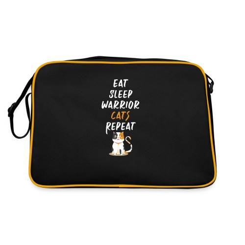 Eat sleep warrior cats repeat - Sac Retro
