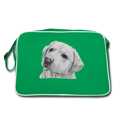 labrador retriever yellow - head - Retro taske