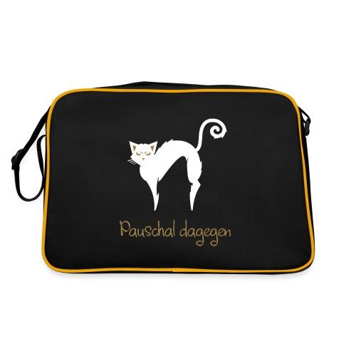 Pauschal dagegen Katze - Retro Tasche