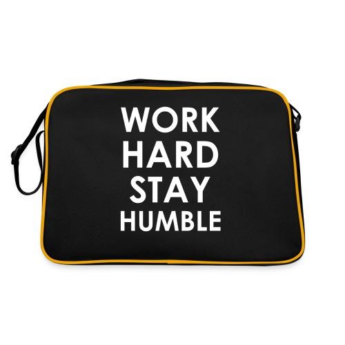 WORK HARD STAY HUMBLE - Retro Tasche