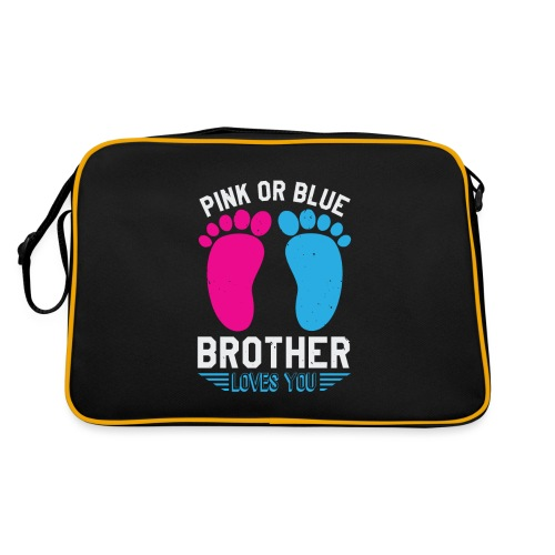 Pink or blue brother loves you - Retro Tasche