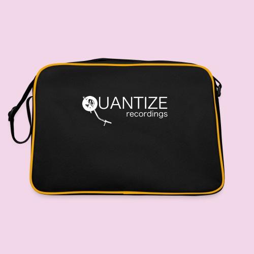 Quantize White Logo - Retro Bag