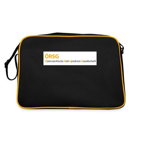 Text-Logo der ÖRSG - Rett Syndrom Österreich - Retro Tasche