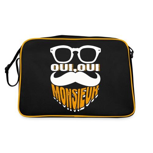 Oui Oui Monsieur Mustache Graphic French - Retro Tasche