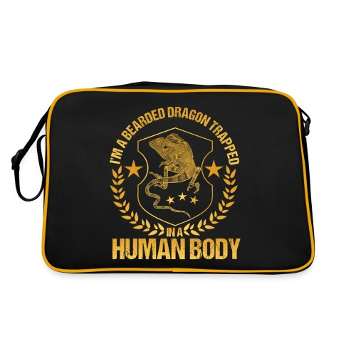 Bearded Dragon Trapped In A Human Body - Retro Tasche