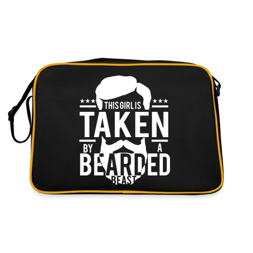 This Girl Is Taken By A Bearded Man - Retro Tasche