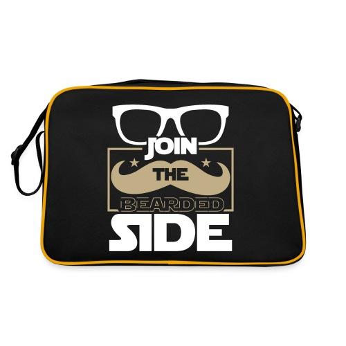 Join The Bearded Side Funny Beard Sayings - Retro Tasche