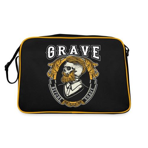 Grave Before Shave Bearded - Retro Tasche