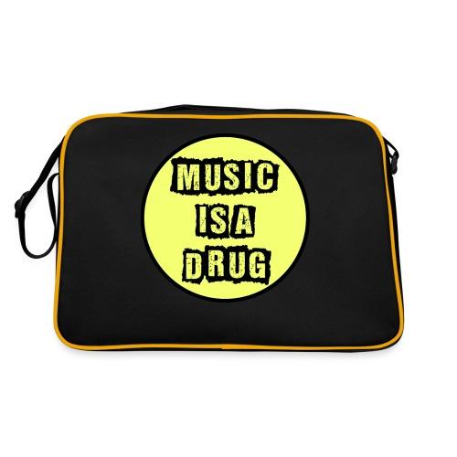 Music is a drug - Retro Tasche